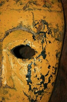 Old antique 19th C African wooden tribal mask