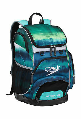 Speedo Large Teamster Backpack Swim Bag 35 L Liter Tie Dye Turq New with Tags