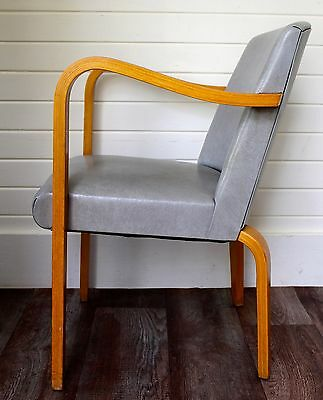 vintage mid century danish modern arm chair lounge bentwood thonet space age