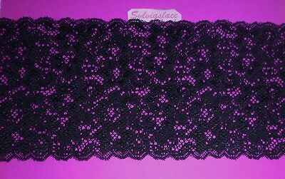 3 metres   of   Black   Double Sided  Stretch   lace     16   Cm  wide