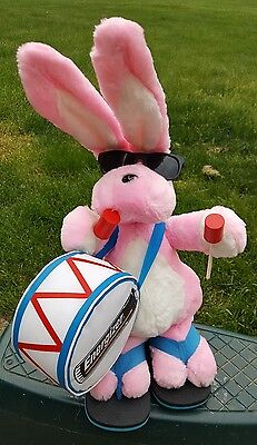 1996 23'' Energizer Bunny Plush Drum Sticks Sunglasses Flip Flops Stuffed Rabbit