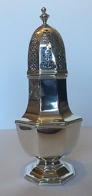 Exceptionally Large English Sterling Silver Muffineer - London Assay 1978