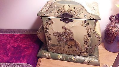 antique amazing victorian sewing box must see