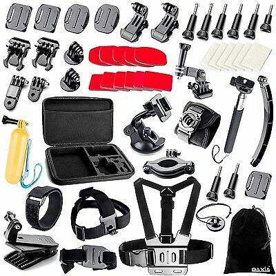 38-in-1 Accessories for GoPro HERO 5 Session 4 3+ 3 2 1 Cameras - Black Silver