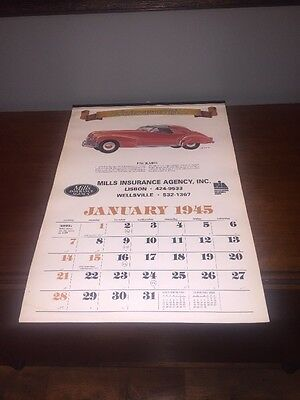 Used 2001 Automemories of 1945 For Calendar Advertising Insurance Automobiles