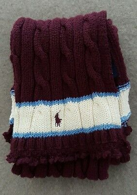 Polo ralph lauren cable knit kids scarf