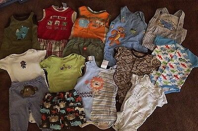 HUGE Lot Baby Boy Spring Summer Clothes 3-6 6 Mo Shorts Overalls ANIMAL Gymboree