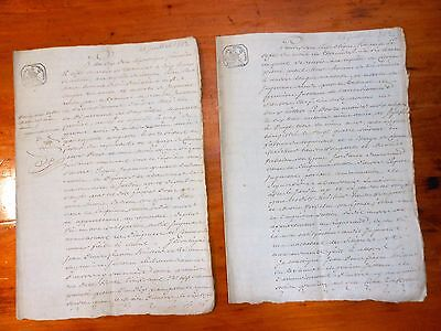 2 X 1802 manuscript documents from Europe.