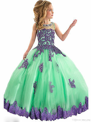 us stock size 8 flower girls dress party birthday ball gown pageant wedding
