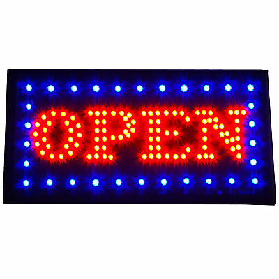 """Bright Classic Animated BOLD LED Lights Open Store Shop Sign 19x10"""" Display neon"""