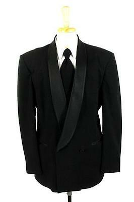 mens black HENRY GRETHEL tuxedo tux jacket formal occasion shawl lapel L 42 R