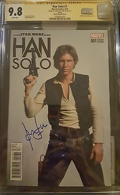 Han Solo #1 photo cover variant__CGC 9.8 SS__Signed by Harrison Ford