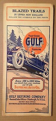 GULF MAP Original 1920s/ 'That Good GULF Gasoline' Gulf Refining Co., PA