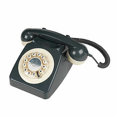 1960s 746 Design Classic Phone in Grey Vintage Retro push buttons | Wild & Wolf