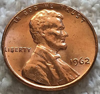 1962-P Lincoln Cent Unc From Obw Roll From Old Safe Collection Wow Look