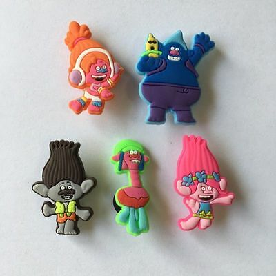 Trolls 10pcs Shoe Charms Set Croc/Jibbitz Kids Party NEW US Seller