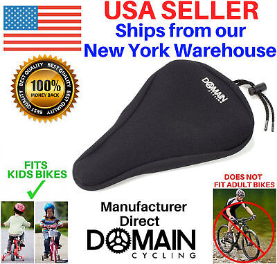 "Child Bike Gel Seat Cushion Cover 9""x6"" for Kids Bicycles - Domain Cycling"