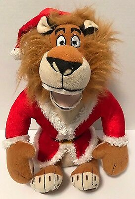 "Madagascar Alex Lion Santa Plush 16"" Stuffed Animal Christmas"