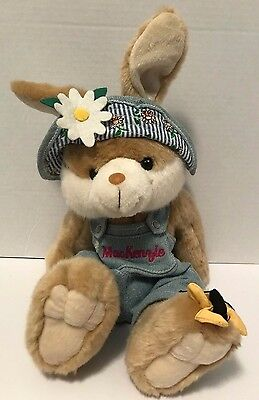 "First & Main Bunny Rabbit Mackenzie Plush 11"" Stuffed Animal Smiles A Lot Brown"