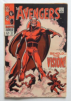 Avengers #57 (1963) - First (1st) Appearance of the Vision!