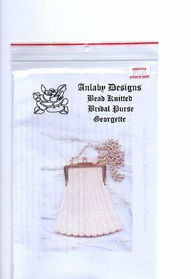 Bridal Purse GEORGETTE,  BEAD KNITTING PATTERN, for bead knitted purse