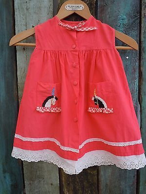 Childs French vintage quaint  dress top age 4/5yrs 60s/Peasant