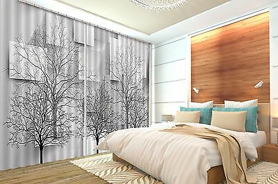 3D Simple Tree 2Blockout Photo Curtain Printing Curtains Drapes Fabric Window CA