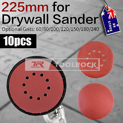 Toolrock 10pcs 225mm Hook & Loop Plaster Sanding Discs for Drywall Sander