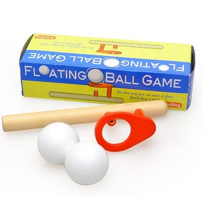 Wooden Kids Ball Game Toys Wood Magic Blowing Party Fidget Sensory Education Toy