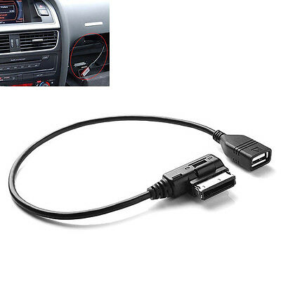 AMI MMI AUX Music Interface to USB Adapter Cable for Audi Car Audio Flash Drive