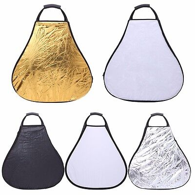 5in1 Triangle Photography Collapsible Light Reflector Diffuser 60x69cm 89cmx77cm