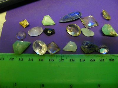 Lot of 17 Larger Genuine Natural  Mixed Gemstones,wide variety,shapes.