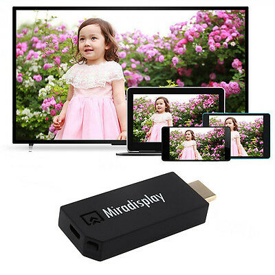 Wireless Wifi ALL Phone Video to HDMI TV HDTV Receiver Display Dongle Adapter