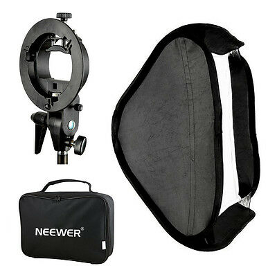 Neewer 40x40cm Softbox & Staffa-S con Attacco Bowens per Flash Snoot Beauty Dish