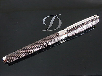 S.T. Dupont Limited Edition Brown Lizard And Palladium Fountain Pen M