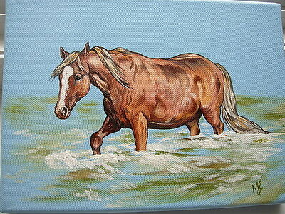 HORSE HANDPAINTED picture on canvas