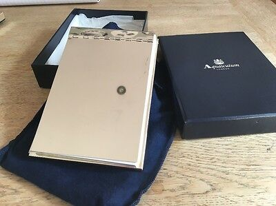 Aquascutum The Brit Oval Desk Top Silver Notepad 2005 Rare