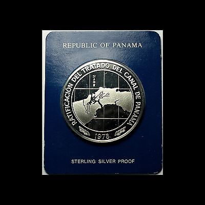 Panama 10 Balboas, Sterling Silver Proof coin with COA, case and letter