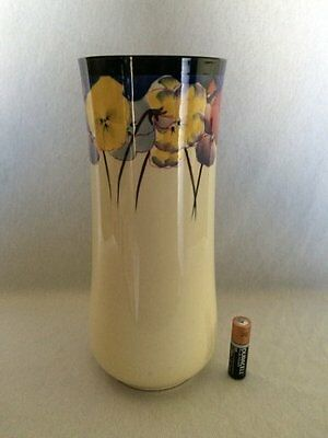 Extremely Rare Large 23cm Royal Doulton Pansy Vase (Pat No. D4049)