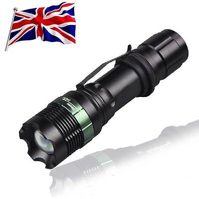 10000LM T6 Police LED Zoomable Flashlight Waterproof Torch Light Lamp 18650 AAA