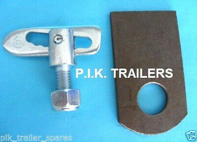 Anti Luce M12 x 34mm Drop Catch Trailer Tail Gate Fastener & EYE PLATE