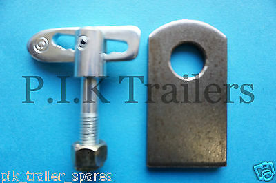 Anti Luce M12 x 44mm Drop Catch Trailer Tail Gate Fastener & Eye PLATE