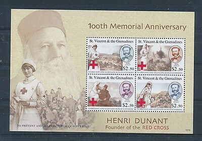 D124380 Henri Dunant Red Cross S/S MNH St.Vincent & The Grenadines