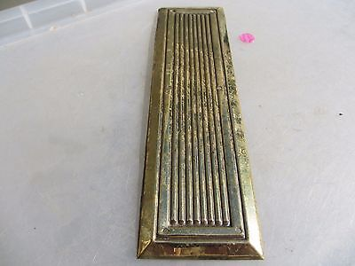 Vintage Brass Finger Plate Push Door Handle Reeded Ribbed Old Victorian STYLE