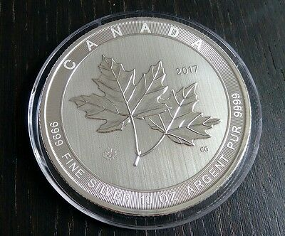 50 CAD 2017 10 Unzen .9999 Silber Maple Leaf 10Oz Fine Silver