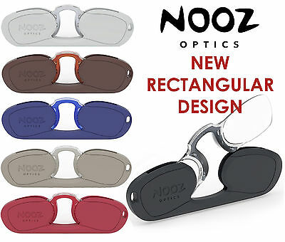 Nooz Optics Rectangular Reading Glasses correction strength +1 +1.5 +2 +2.5 3