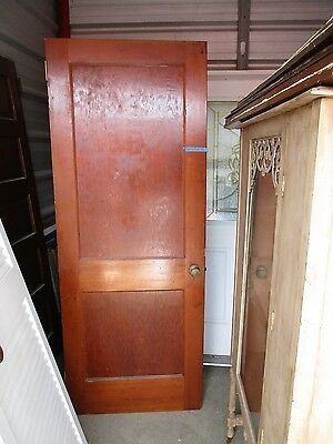 ANTIQUE VINTAGE 2 PANEL INTERIOR DOOR  APPROX 30 x 77 approx NOT PAINTED