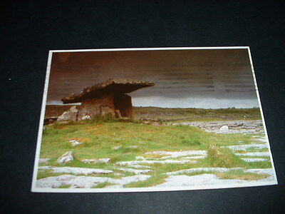 IRISH. POSTCARD  DOLMEN Co CLARE IRELAND