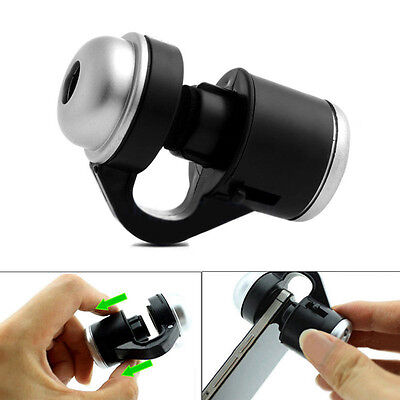 30X Zoom Mobile Phone Camera Optical LED Clip Magnifier Microscope Micro Lens