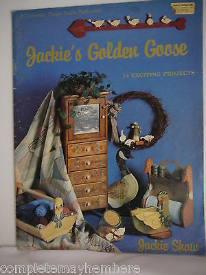 Jackie's Golden Goose by Jackie Shaw exciting projects tole painting folk art
